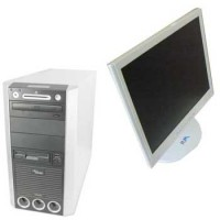 Calculator Fujitsu Tower cu Monitor lcd 17 inch