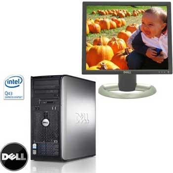 Calculator sh Dell Core2Duo E7400, 2g, 250gb, Lcd 19 Dell 1905FP