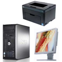 Dell Dual Core 3400, 1gddr2, 40gb,17 inch Lcd, Imprimanta noua